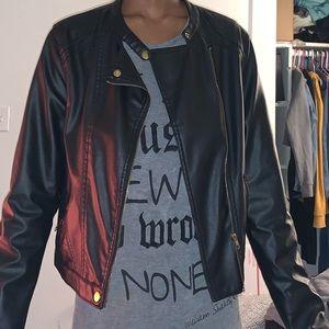 Black leathers jacket